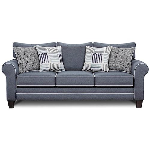 Fusion Furniture 1140 Sleeper Sofa w/ Contrast Welts