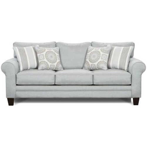 Fusion Furniture 1140 Sleeper Sofa w/ Accent Pillows