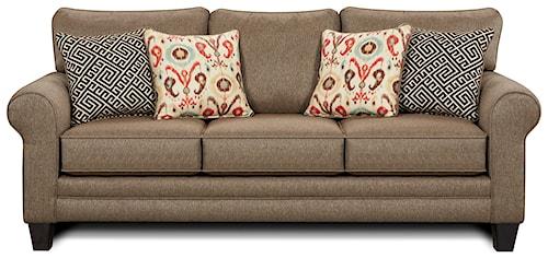 Fusion Furniture 1140 Sleeper Sofa w/ Accent Pillows