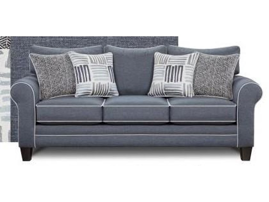 Fusion Furniture 1140denim1140 Denim Sofa