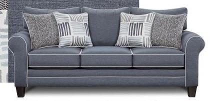Attractive Fusion Furniture 1140Denim Denim Sofa