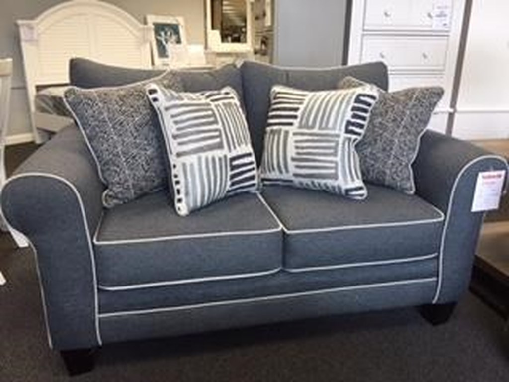 Fusion Furniture 1140Denim1140 Denim Love Seat