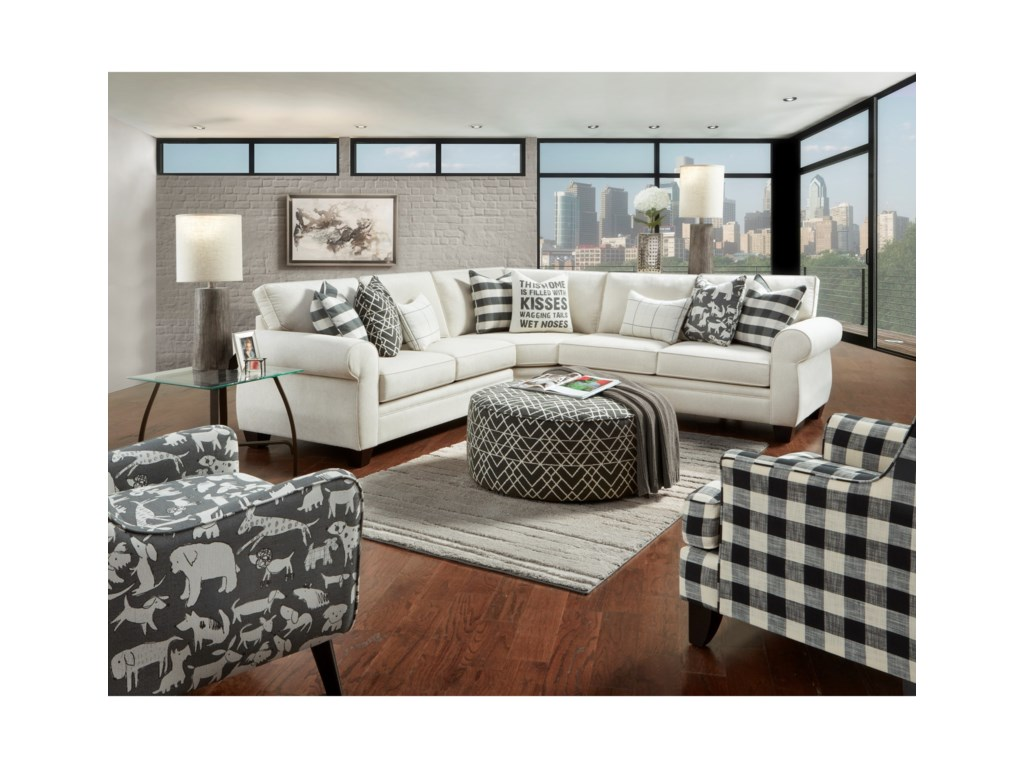 Fusion Furniture 1170Stationary Living Room Group