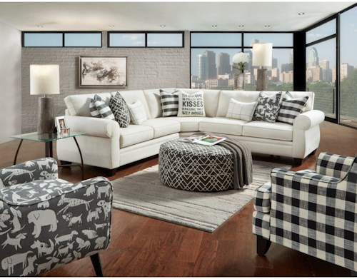 Fusion Furniture 1170 Stationary Living Room Group