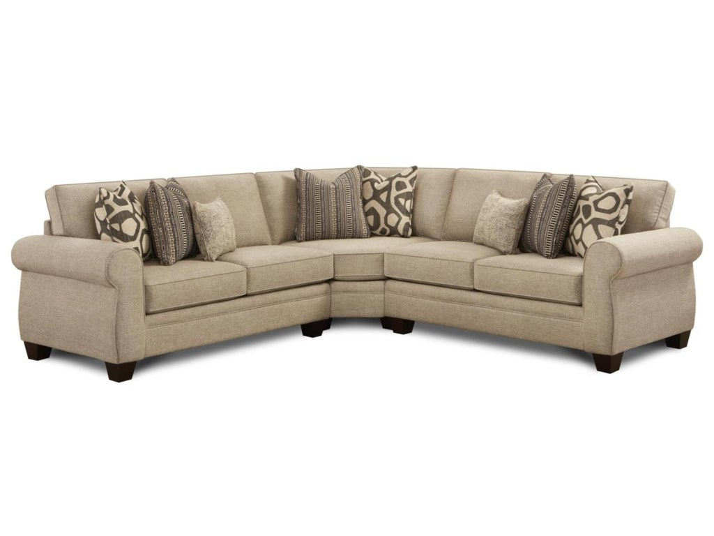 Fusion Furniture 11703-Piece Sectional