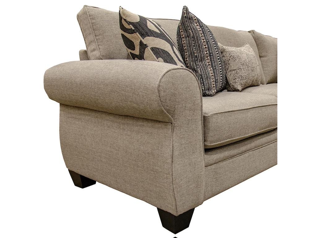 Fusion Furniture SullivanSullivan Cigar 3-Piece Sectional
