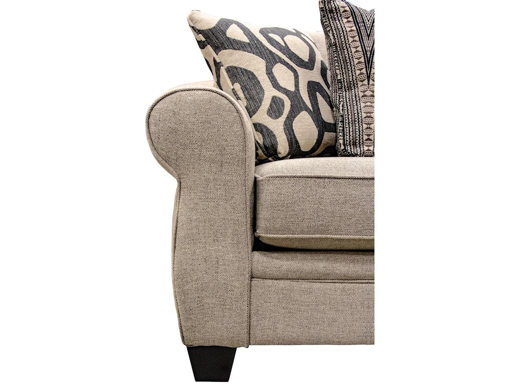 Fusion Furniture 1170Sullivan Cigar 3-Piece Sectional