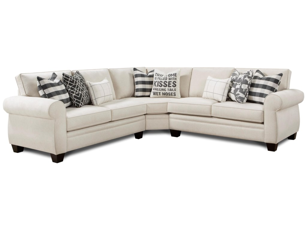 1170 3-Piece Sectional by Fusion Furniture at Pilgrim Furniture City