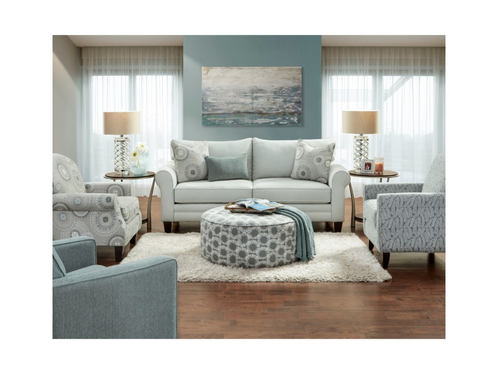 Fusion Furniture 1180Stationary Living Room Group
