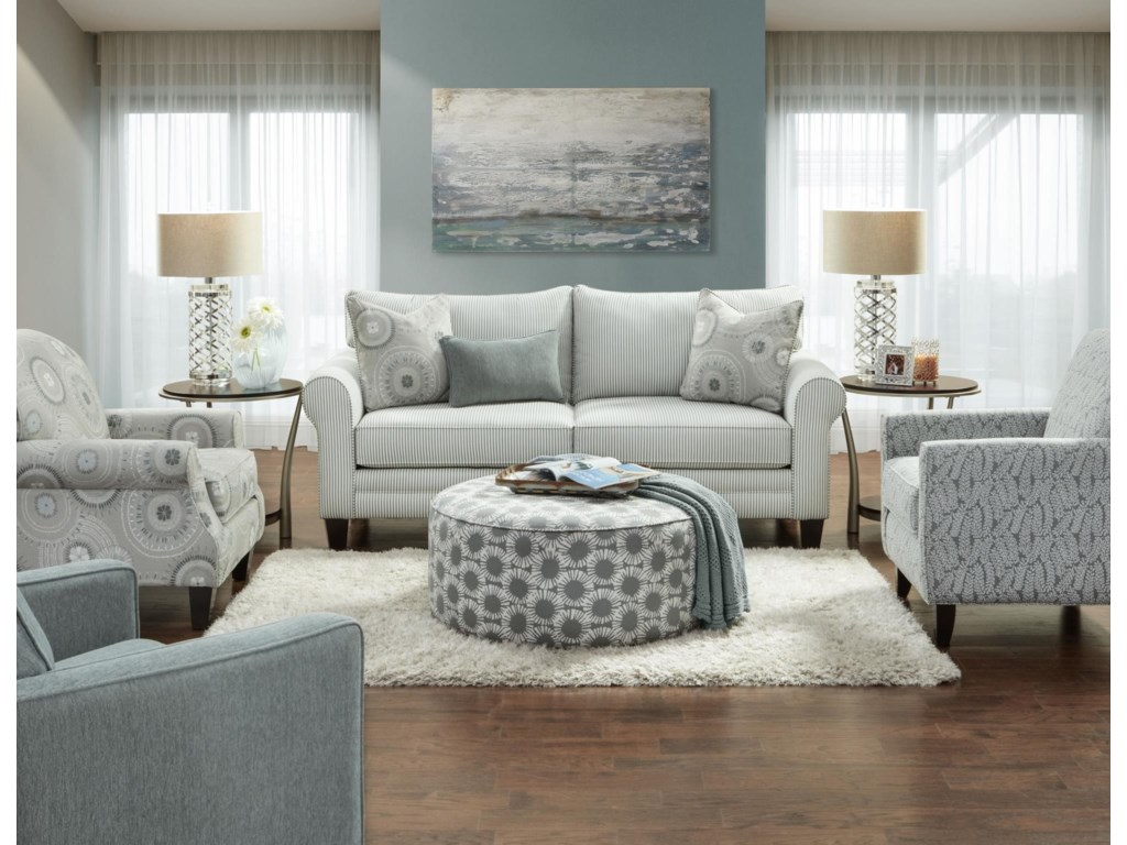 Fusion Furniture 1180Upholstered Loveseat