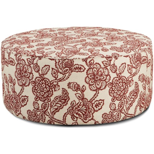 Fusion Furniture 140 Round Cocktail Ottoman