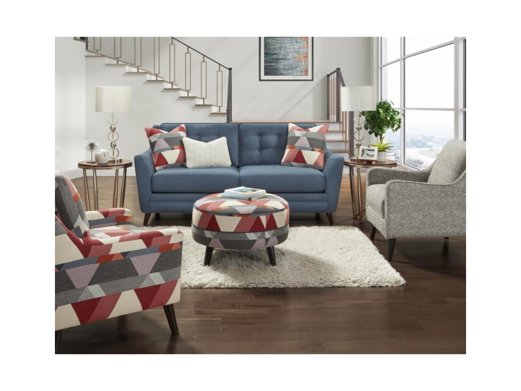Haley Jordan 142Cocktail Ottoman