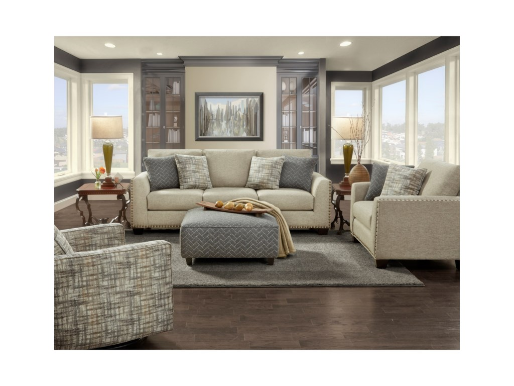 Fusion Furniture (Beaverton Store Only) 1430Stationary Living Room Group
