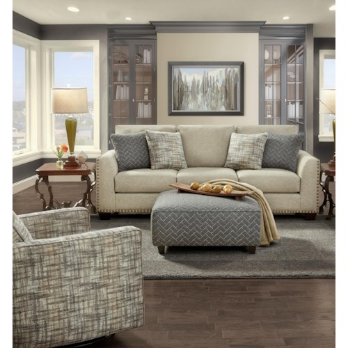 Fusion Furniture 1430 Stationary Living Room Group
