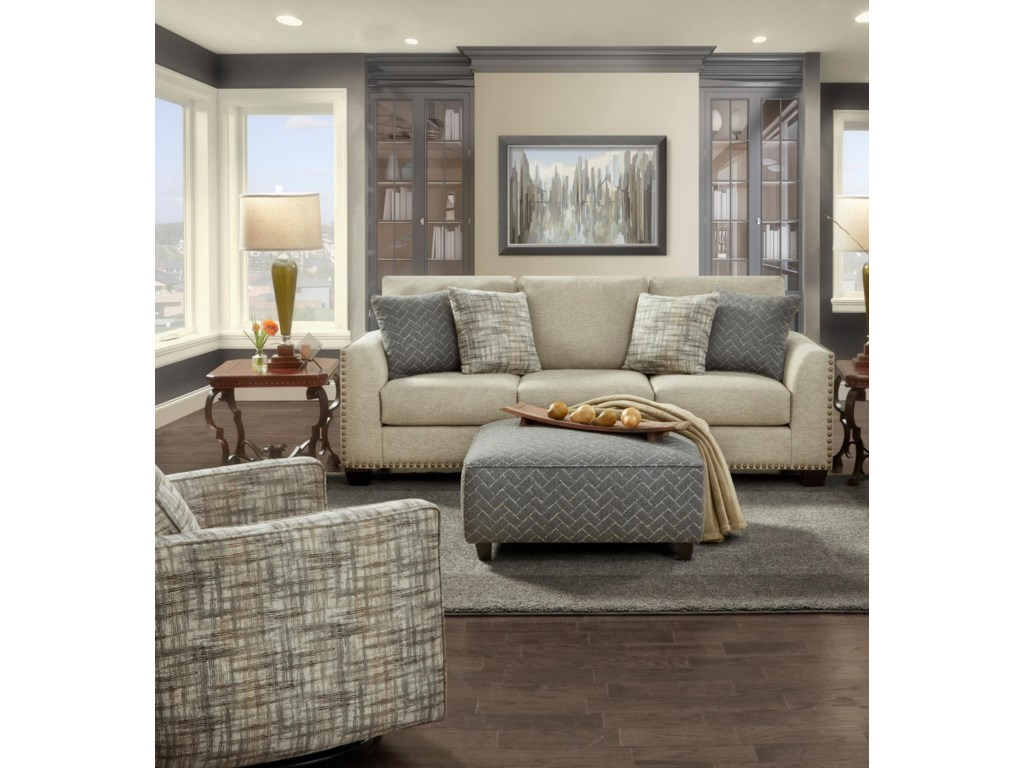 Fusion Furniture 1430Stationary Living Room Group