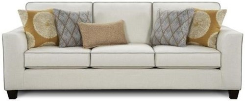 Fusion Furniture 1440 Transitional Sofa with Contrasting Welt Cords