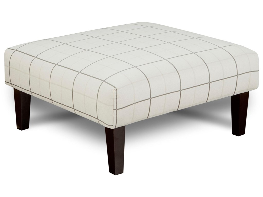 x product home rectangle metal company upholstered cocktail ottoman luxe ellery table