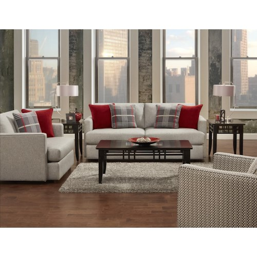 Fusion Furniture Greenwich Stationary Living Room Group