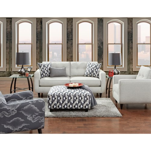 Fusion Furniture 1850 Stationary Living Room Group