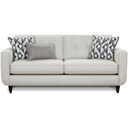 Fusion Furniture 1850 Mid-Century Modern Sofa