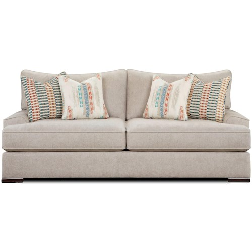 Fusion Furniture 2010 Contemporary Sofa with Flared Track Arms