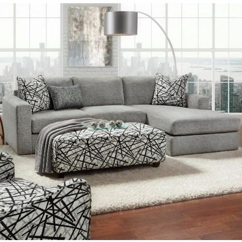 Fusion Furniture 2051 2 Piece Sectional with Chaise