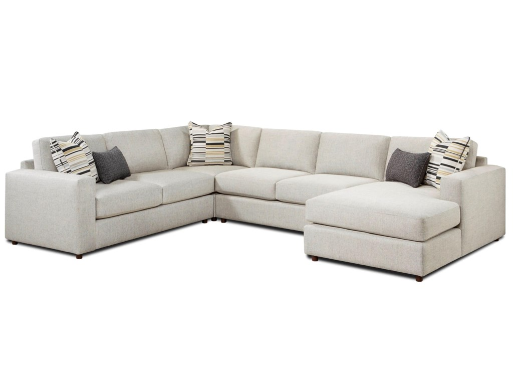 Fusion Furniture 20514-Piece Sectional