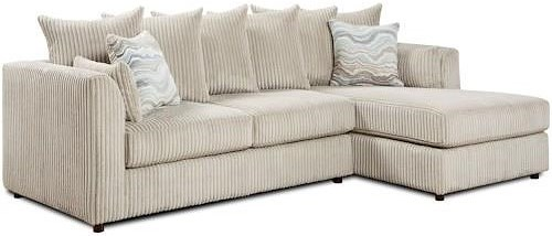 Fusion Furniture 2053 Chaise Sectional