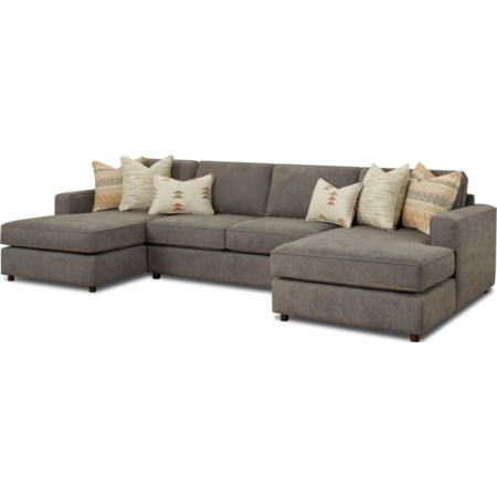 3-Piece Dual Chaise Sectional