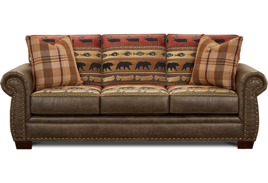 Fabric Faux Leather Sofa Sleeper