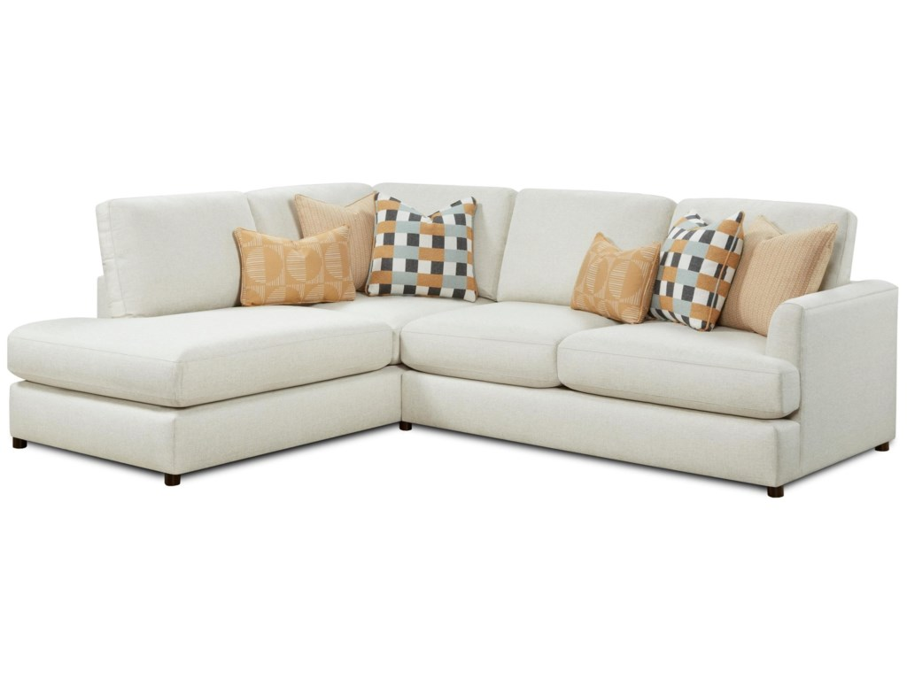Fusion Furniture 23-002-Piece Sectional with Chaise