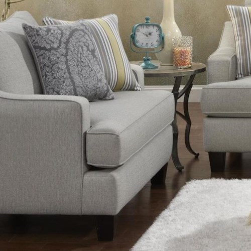 Fusion Furniture 2310 Transitional Chair and a Half with Track Arms