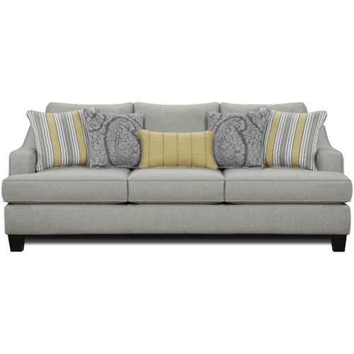 Fusion Furniture 2310 Transitional Sleeper Sofa with Shapely Track Arms