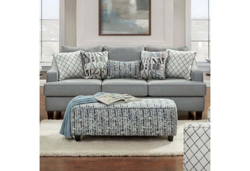 2330 Contemporary Sofa by Fusion Furniture at Furniture Superstore -  Rochester, MN