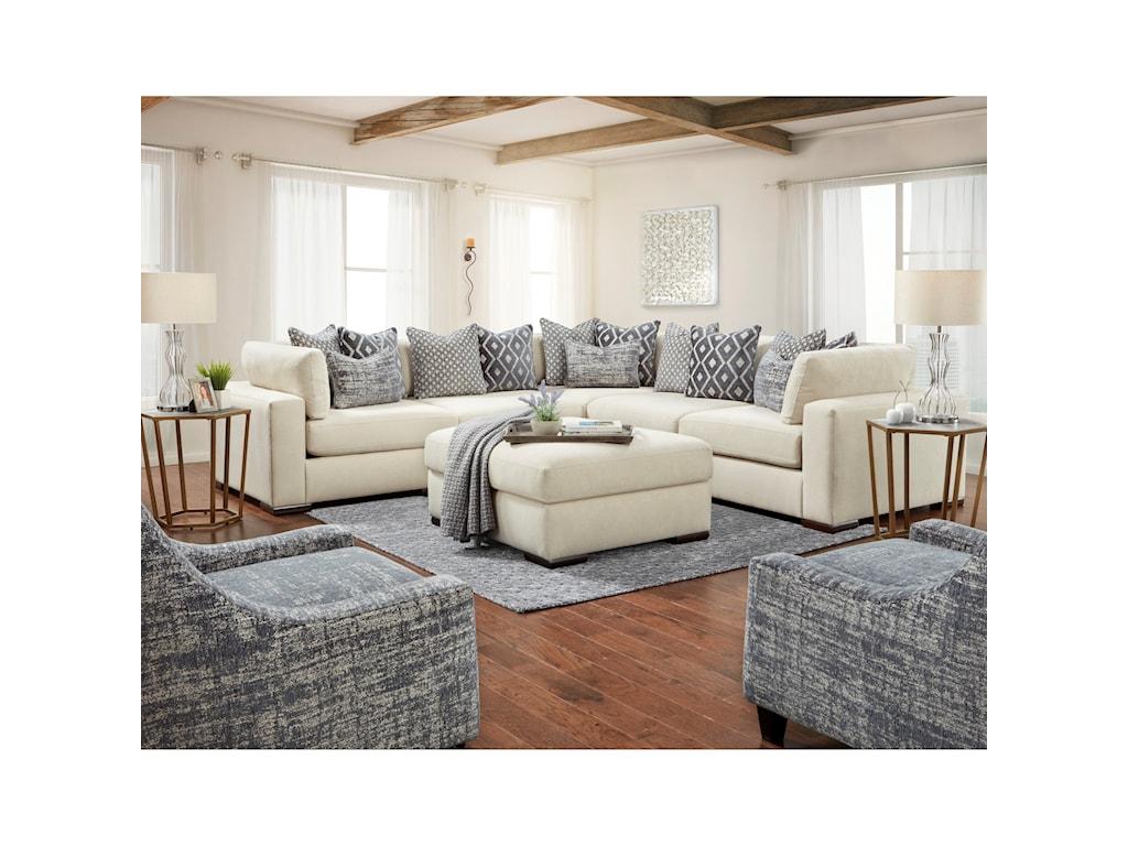 Fusion Furniture 24-00Ottoman