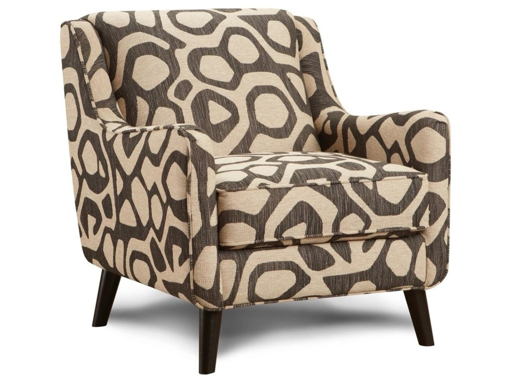 Fusion Furniture 240Atomic Brindle Accent Chair