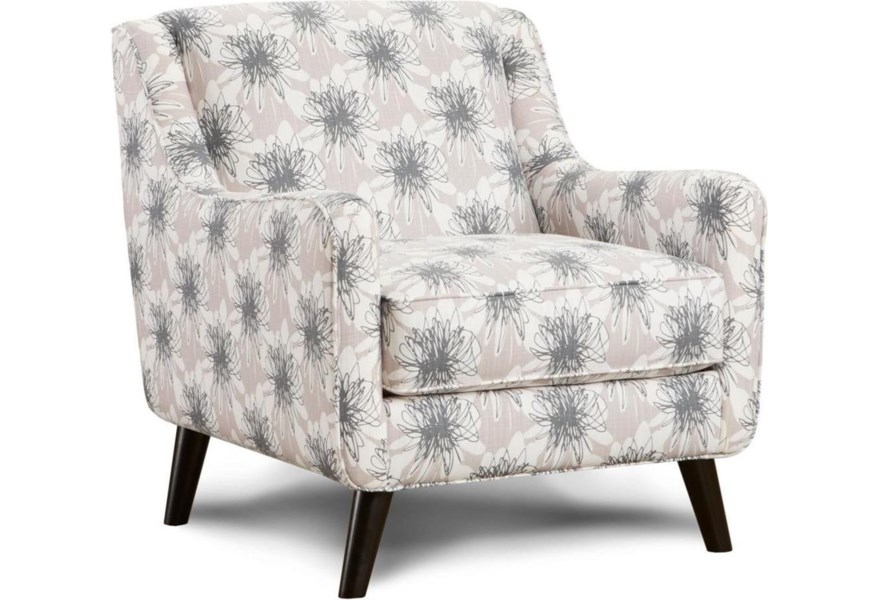 Fn 240 Mid Century Modern Accent Chair With Angled Arms Lindy S