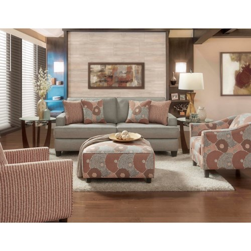 Fusion Furniture 2490 Stationary Living Room Group
