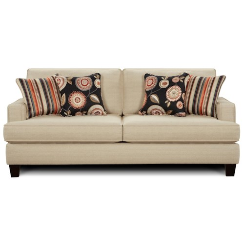 Fusion Furniture 2490 Contemporary Stationary Sofa With