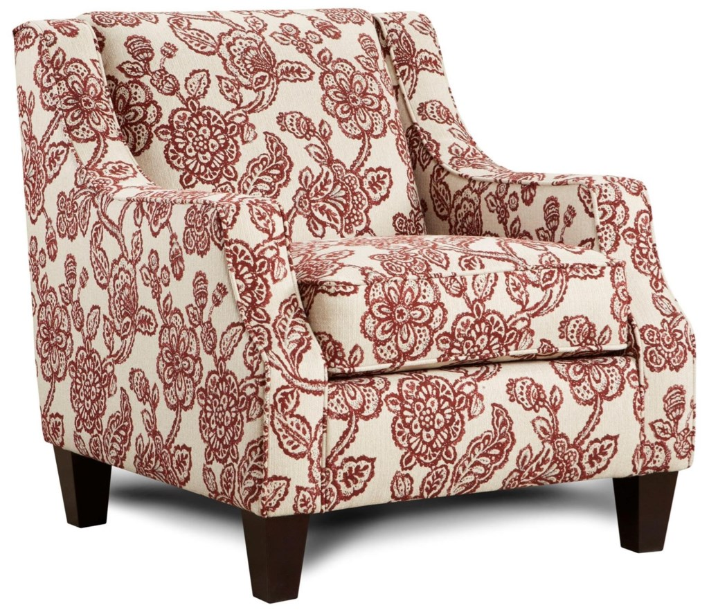 Fusion Furniture 250 Upholstered Accent Chair Zaks Fine Furniture
