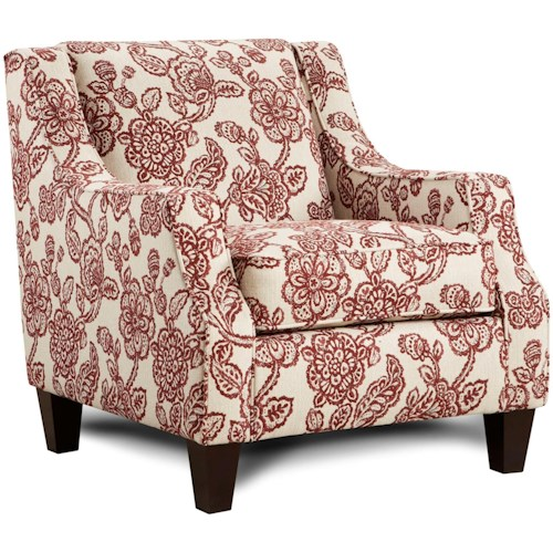 Fusion Furniture 250 Upholstered Accent Chair