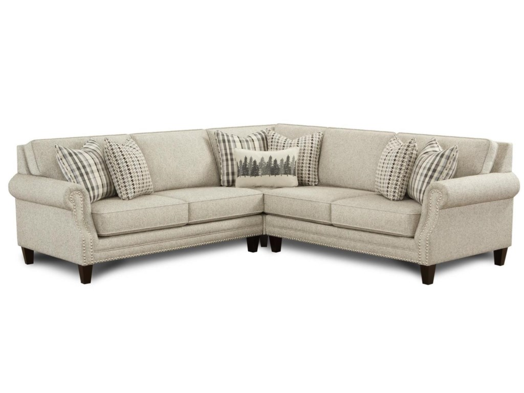 Fusion Furniture 25304-Seat Sectional Sofa
