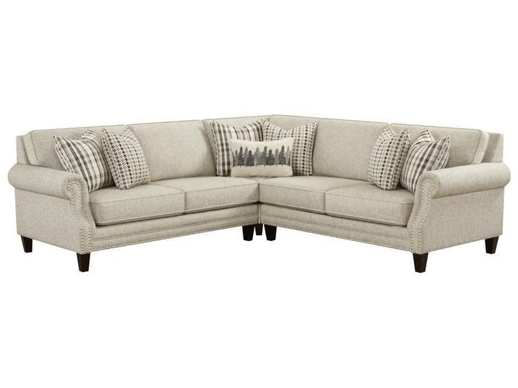 Fusion Furniture 2531Three Piece Berber Sectional