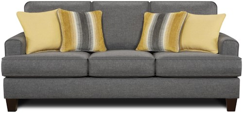 Fusion Furniture 2600 Contemporary Sofa with Small Track Arms