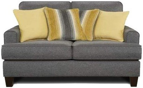 Fusion Furniture 2600 Contemporary Loveseat with Small Track Arms