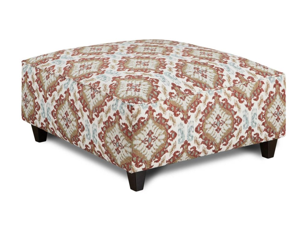 Fusion Furniture Quinn TwilightSamara Citrus Cocktail Ottoman