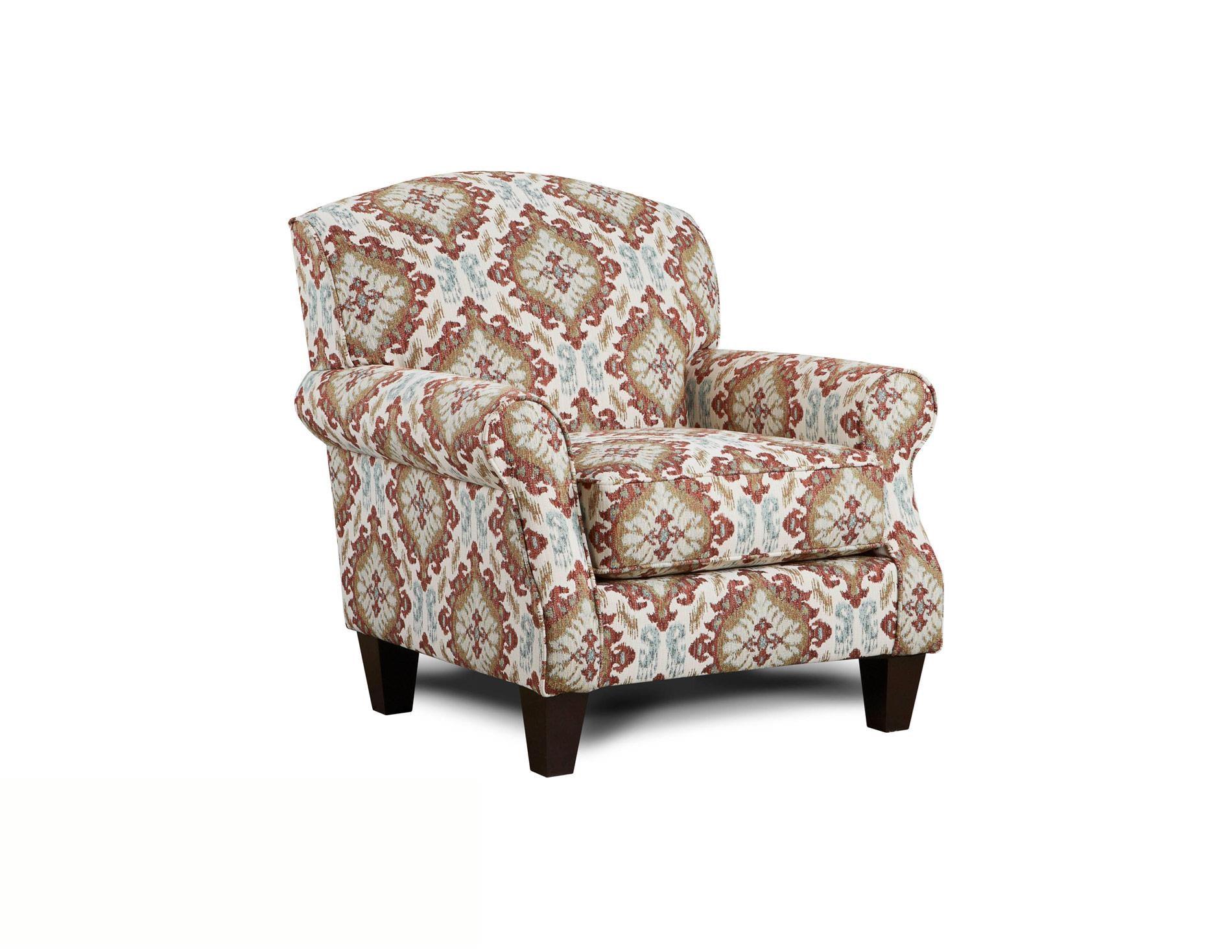 Fusion Furniture Quinn TwilightSamara Citrus Accent Chair