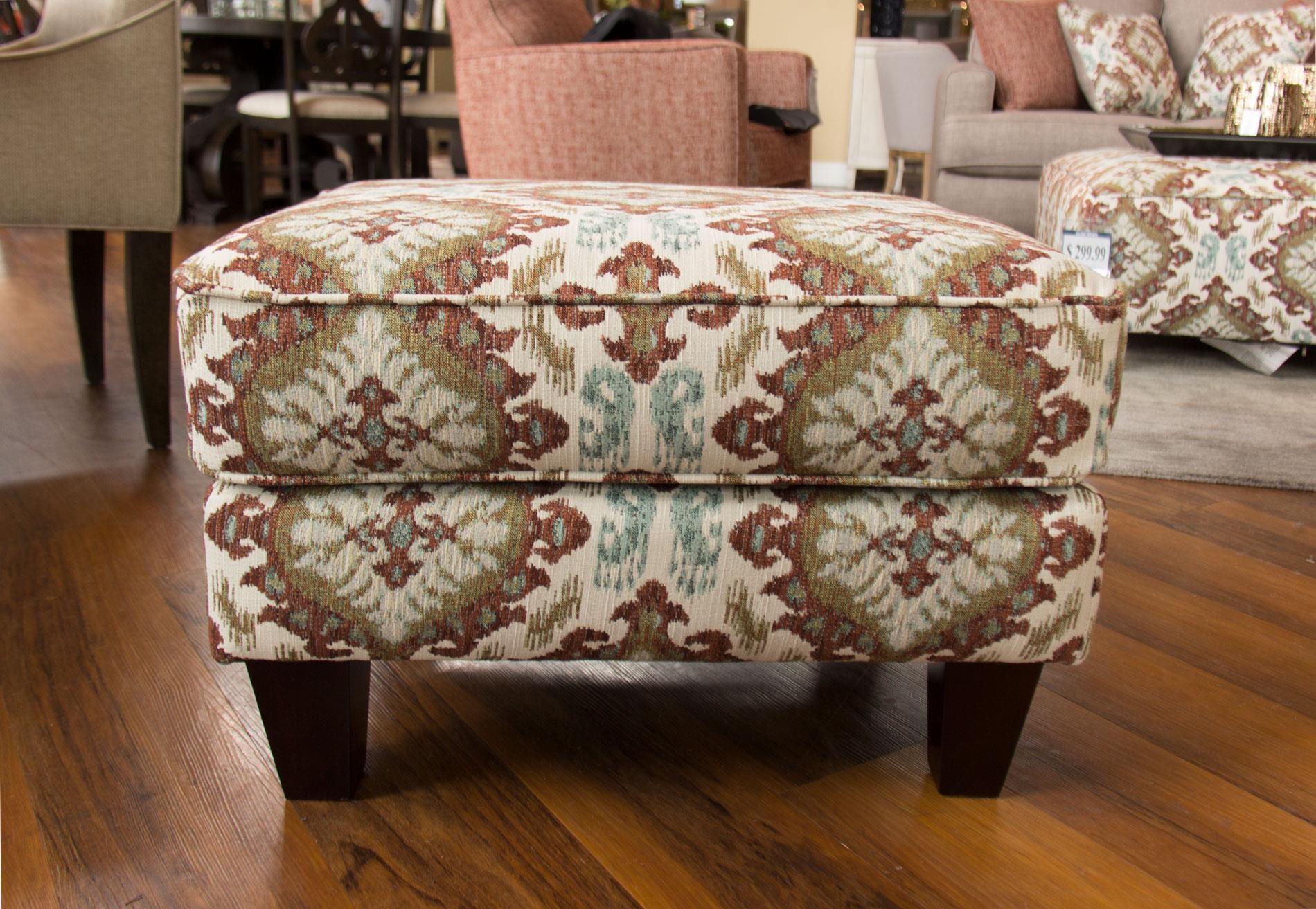 Fusion Furniture Quinn TwilightSamara Citrus Accent Ottoman