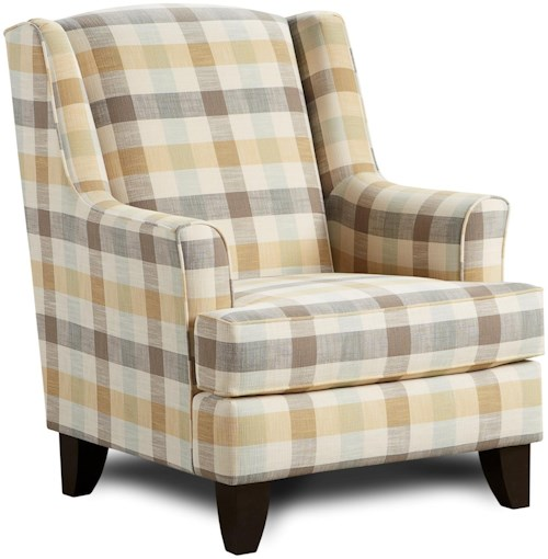 Fusion Furniture 260 Transitional Wing Back Chair