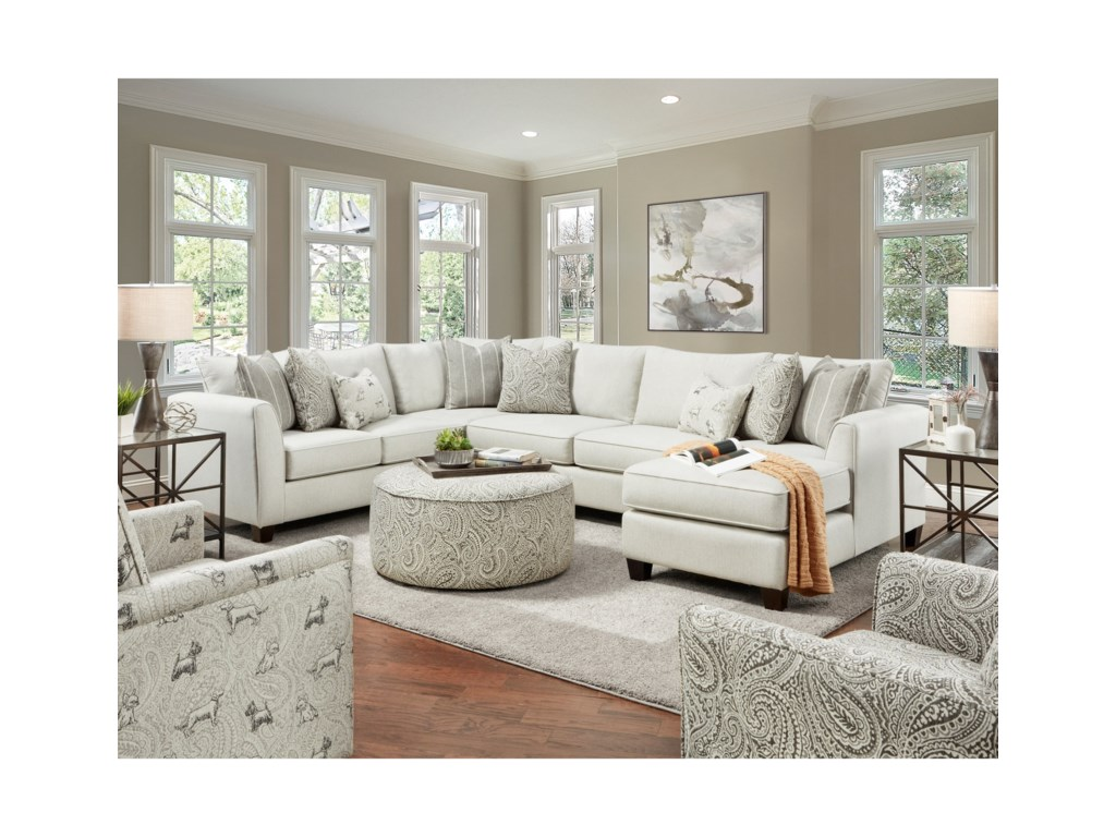 Fusion Furniture 28Living Room Group